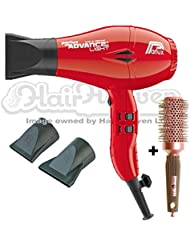 Parlux Advance Light Ionic and Ceramic Hair Dryer - Red + Free Brush