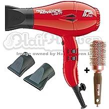 Secador de pelo Parlux Advance iónico y cerámico, color rojo + cepillo gratis.