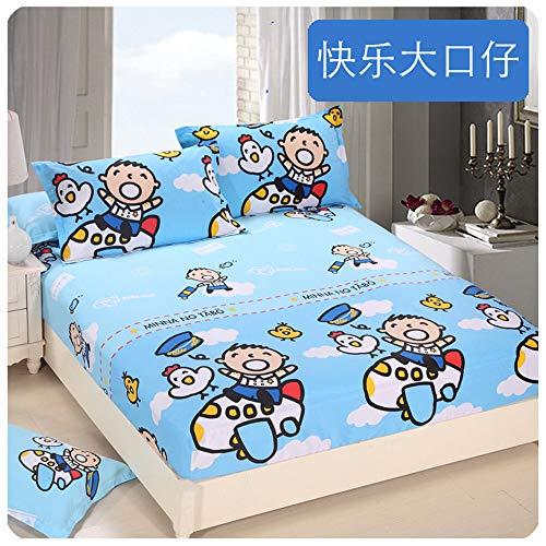 huyiming Einzelstück Baumwolle Kinder Cartoon 1,2 m Anti-Rutsch-Bett Trampolin Abdeckung Baumwolle 1,5 m 1,8 dünne Matte Schutzhülle 100X200 + 30