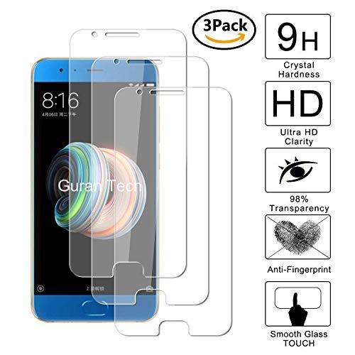 Guran [3-Unidades] Protector de Pantalla Vidrio Cristal Templado para Xiaomi Mi Note 3 Smartphone Cristal Vidrio Templado Film (9H, 2.5D Edge, 0.3mm)