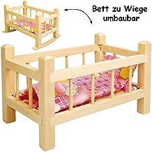Kissen für Puppenbett oder Puppenwiege beige-rosa Puppen & Zubehör