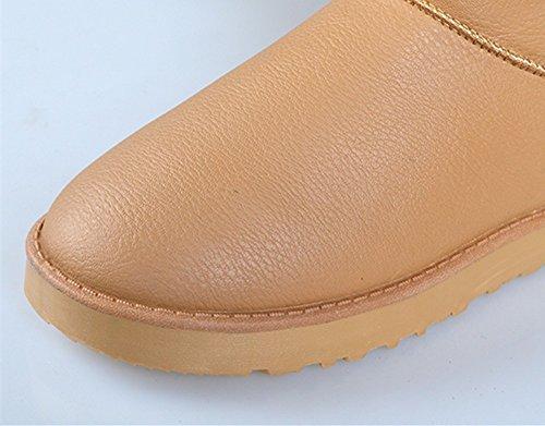 FLYRCX L'inverno con Snow Boots caldo cashmere antiscivolo in pelle impermeabile scarpe Ms. D