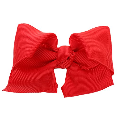 Kleinkind Haarschleife mit französischen Clip - rot (Boutique Für Kleinkinder)