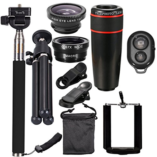 Intelligente sharplace Kit 10 in 1 Lens càmara 3 in 1 8 x mit Stativ Monopod für Handy