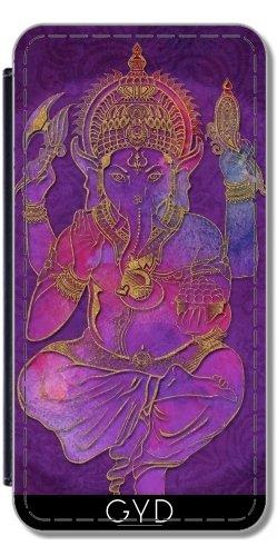 Leder Flip Case Tasche Hülle für Apple iPhone 5/5S - Ganesha Geistig Gott Hinduistisch by Andrea Haase Lederoptik