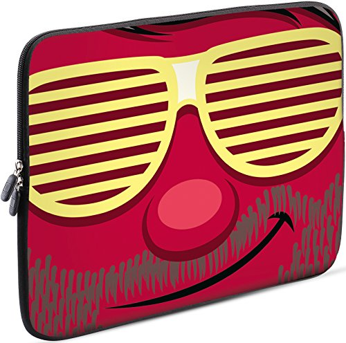 Sidorenko Tablet PC Tasche für 7-8 Zoll | Samsung Galaxy Tab 3 / Apple iPad mini | Universal Schutzhülle | Hülle Sleeve Case Etui aus Neopren, Rot