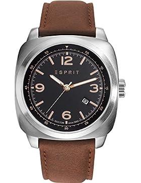 Esprit Herren-Armbanduhr cognac Analog Quarz Leder ES103611009