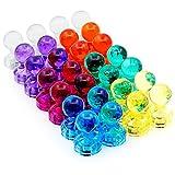 Acrylic Magnetic Push Pins–ihuixinhe Lot de 28aimants à épingle pour maison et bureau pour aimants de
