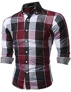 Camicia da uomo MIOIM Camicia casual a quadri a quadri manica lunga Camicia casual in cotone non ferro con maniche...