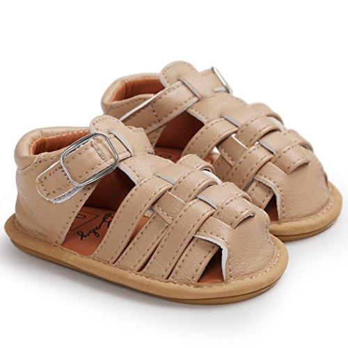 Chaussures de bébé,Fulltime® Filles garçon sandales enfant premières trotteurs Kid chaussures Kaki