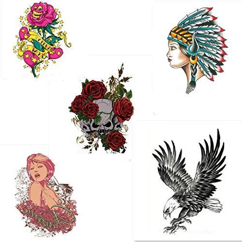 EQLEF® 5 stili impermeabile adesivi Tattoo Transfer i tatuaggi provvisori del tatuaggio del tatuaggio del corpo Sticker
