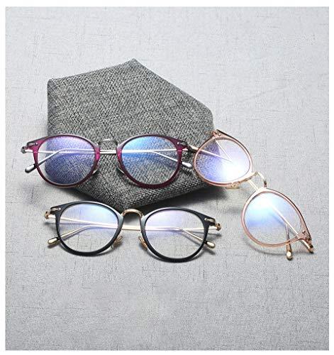 Frauen Spektakel-optische Rahmen Gläser Clear Lens Lady Vintage Computer Anti-Radiation Eyegbrille, Blue Light Blocking für Computer
