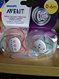 #1: Philips Avent Bpa Free Nighttime Infant Pacifier, 0-6 Months, 2-Count for Girls