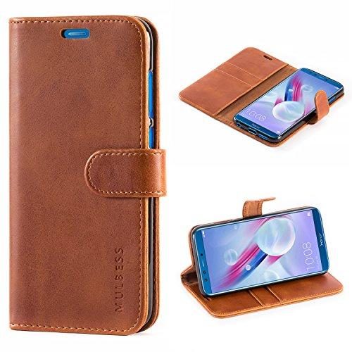 Huawei Honor 9 Lite Hülle,Mulbess Premium Handy Schutzhülle Ledertasche im Kartenfach für Huawei Honor 9 Lite Tasche Hülle Leder Etui Schale,Braun (Vintage Style)