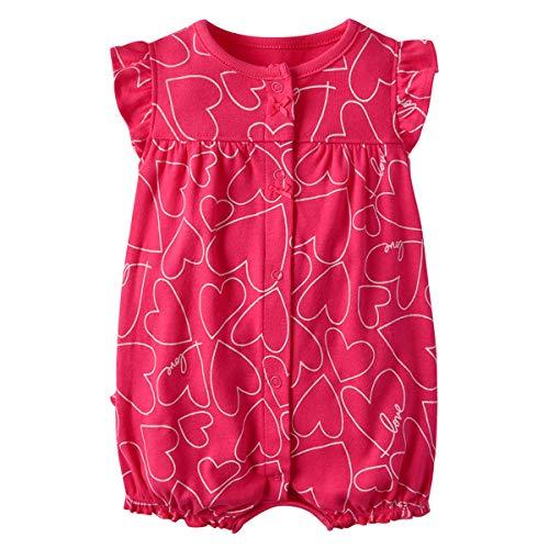 Bambino Pagliaccetto - Neonata Cotone Tuta Manica Corta Tutina Bambina Pigiama Attrezzatura Neonato Body, 6-9 Mesi