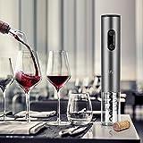 Korkenzieher Elektrisch von Bfull 2 Stück Opener umfasst automatische Weinöffner, Luftdruck Wein Öffner, Vakuum Stopper (2pcs), Folienschneider, Wein Belüfter Ausgießer - 9