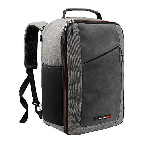 Cabin Max Manhattan Stowaway XL - Ryanair Premium Handgepäck 20 Liter Schultertasche 40 x 20 x 25 cm abschließbarer Rucksack mit Organisationsfach und nützlichem Tablet Fach