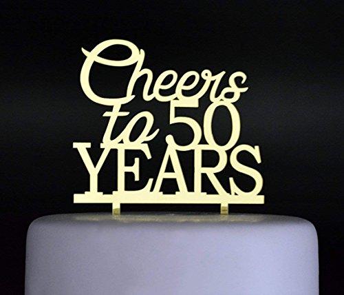 (Cheers zu 50Jahren Kuchen topper-50th Geburtstag und Feier Party decoration-gold)