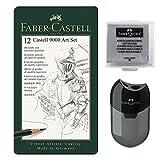 Faber-Castell 119065 - Bleistift Castell 9000, 12er Art Set, Inhalt 8B - 2H
