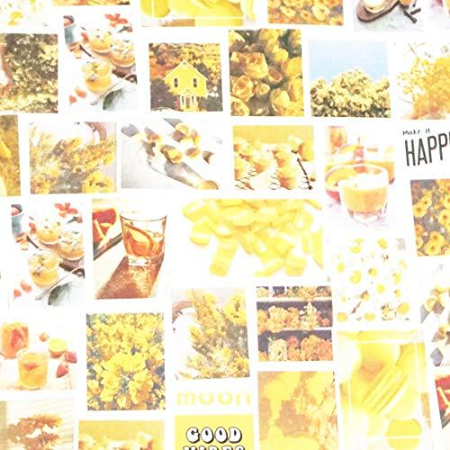 Sticker Set Scrapbooking Aufkleber für Bullet Journal Planer DIY Basteln Scrapbooking Verschönerung Tagebuch Yellow Series - Photo113