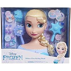 JP Disney JPL87476 La Reine des Neiges Deluxe Elsa Tête de Coiffure sans Couleur