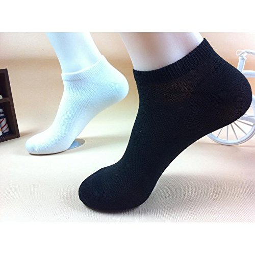 calistous kurze Röhre Low helfen Sport Socken Unisex Low Cut Ankle Sport Crew Socken aus Baumwolle Schwarz schwarz (Socken Rohr Baumwolle)