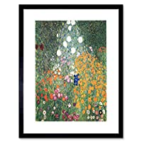 Wee Blue Coo Gustav Klimt Flower Garden 1907 Old Master Painting Art Framed Wall Art Print