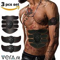 Electroestimulador Muscular Abdominales | Profesional Electro Estimuladores Musculares Inalambrico Espalda Biceps Brazos Gluteos Piernas | Masajeador Eléctrico Cinturón ABS Sport Hombres Mujeres (Electroestimulador Advanced - 12 Pads)