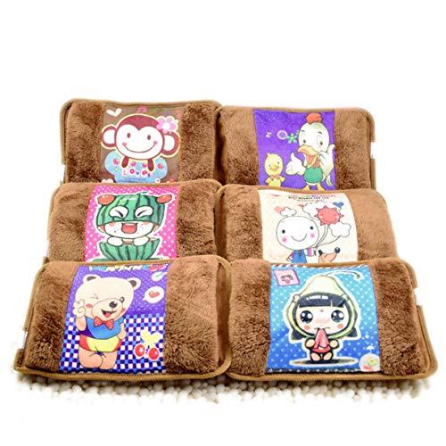 Borsa per acqua calda carina borsa di ricarica elettrica borsa per acqua calda cartone animato scaldamani borsa per acqua di riscaldamento 220v cuscino per gatti (marrone) (togames)