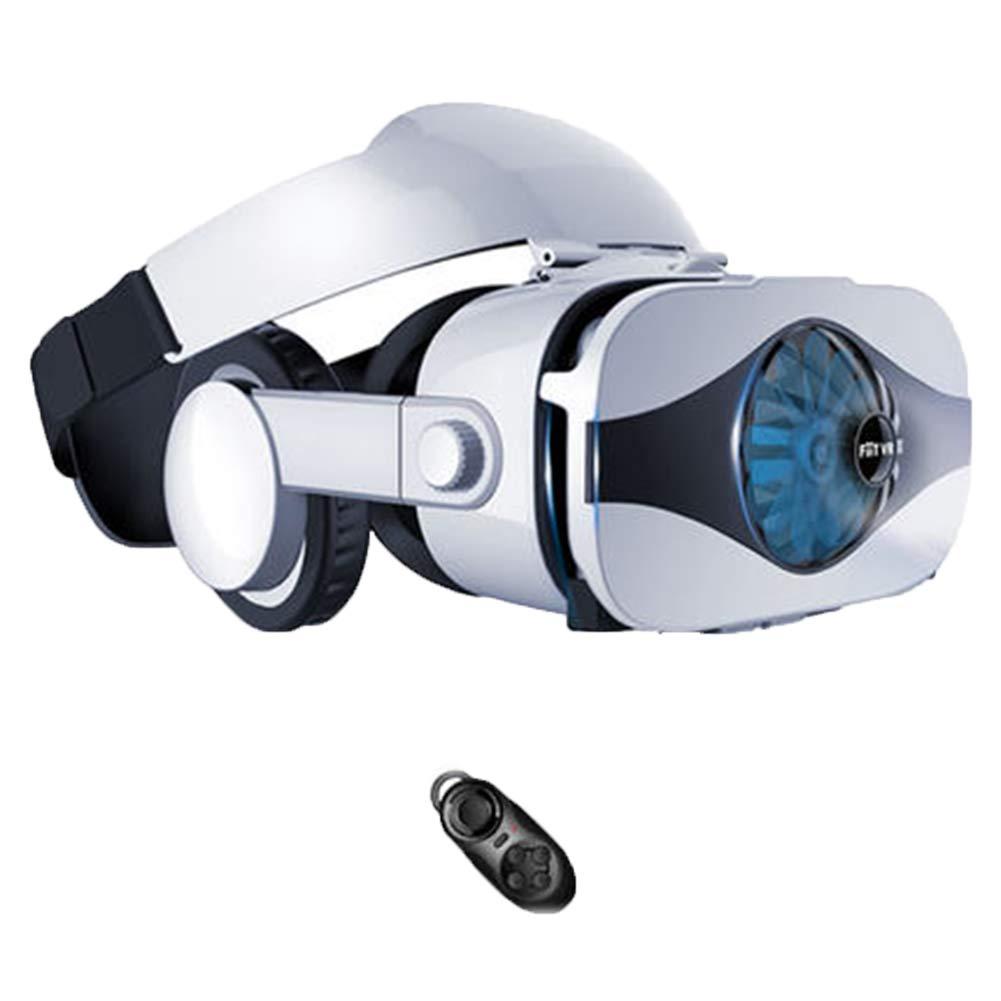AYI Lunettes VR 3D, Monté sur la tête Lunettes de réalité virtuelle, Convient à4,0 à 6,3 Pouces iPhone/Android / Huawei/Millet Téléphone Portable