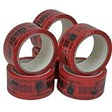 6 Rollen Midori PP Hinweis Klebeband Vorsicht Glas 48 mm x 66 m in Rot