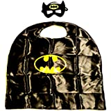 Superhero Cape & Mask Set Kids Fancy Dress Up Costume (24 Designs}