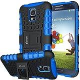Galaxy S5 Hülle,S5 Hülle ykooe (TPU Series) Dual Layer Hybrid Handyhülle Drop Resistance Handys Schutz Hülle mit Ständer für Samsung Galaxy S5 (Blau)