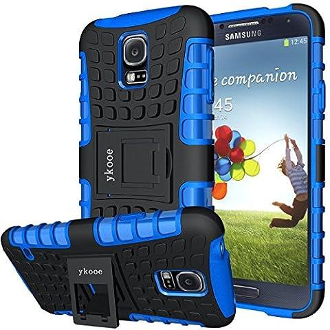 Galaxy s5 Coque,s5 Coque ykooe (Armor Séries) Silicone Anti choc avec Béquille Housse Etui pour Samsung Galaxy S5 (Bleu)