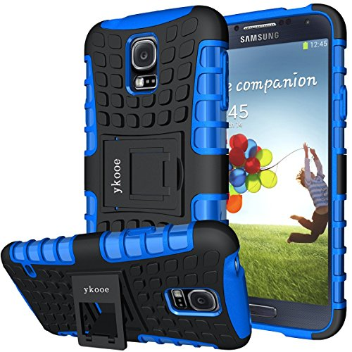 Galaxy s5 Coque,s5 Coque ykooe (Armor Séries) Silicone Anti choc avec Béquille Housse Etui pour Samsung Galaxy S5 (Bleu)