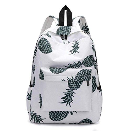 TIFIY Mode Frischen Stil Frauen Schultasche Rucksäcke Ananas Print Bookbags Weiblichen Reiserucksack (A)