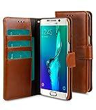 Melkco 4894522026053 PU Mappen-Buch Typ Mini Kunstleder Tasche für Samsung Galaxy S6 Edge Plus braun