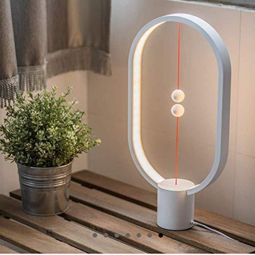 Air Switch 1-tisch-lampe (Balance Lampe,Binwwe Warm Eye-Care LED Ellipse Magnetschalter LED Lampe mit USB Anschluss Magnetische Balance Nachtlicht Tischlampe Schreibtischlampe für Büro)