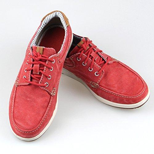 WTUS Homme Casuel Outdoor Comfort Originals Superstar Chaussures Bateau Rouge