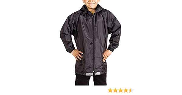 1d893847d Boys Girls Kids Waterproof Rain Jacket Kagoul Kagool Rain Coat ...