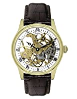 Reloj Rotary GS02520/03 mecánico para hombre, correa de cuero color marrón de Rotary