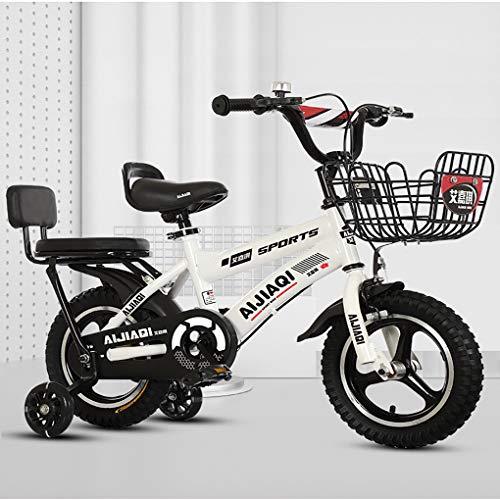 HFYAK Bicicletas Infantiles 12-14-16-18 Pulgadas, Bicicleta con Rueda De Entrenamiento Bastidor Acero...