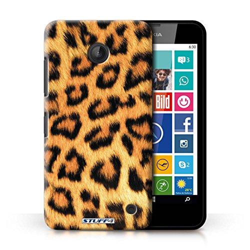 Kobalt® Imprimé Etui / Coque pour Nokia Lumia 635 / Zèbre conception / Série Motif Fourrure Animale Léopard