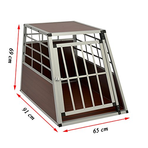 Lethzer Alu Hundetransportbox Single groß Braun