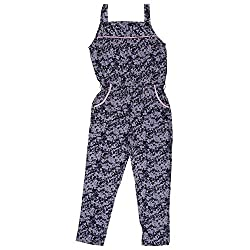 Buttercups Girls Regular Fit Viscose Jumpsuit Romper with Drop Crotch Style Size-23 Inches For 3 Years Old