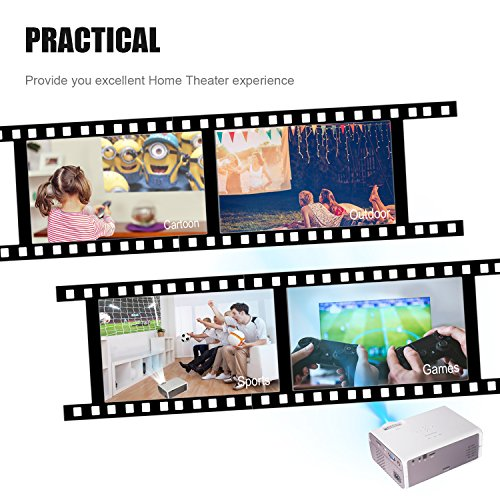 BeamerKing Vidéoprojecteur, Projecteur LED Portable de 2200 Lumens Prend En Charge Le Format Full HD 1080P HDMI USB VGA AV for Laptop iPhone Andriod Smartphone PS4 Xbox TV Box