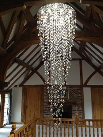 kristall kronleuchter treppenhaus beleuchtung. Black Bedroom Furniture Sets. Home Design Ideas