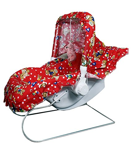 Olly Polly high Quality Imported Baby Multipurpose Carry Cot (10 in 1) Red - Unisex