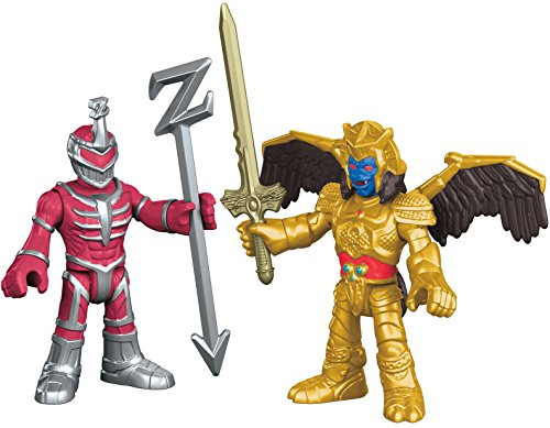 Fisher-Price – Imaginext – Power Rangers – Goldar & Lord Zedd – 2 Mini Spielfiguren + (Requisiten Rangers Power)