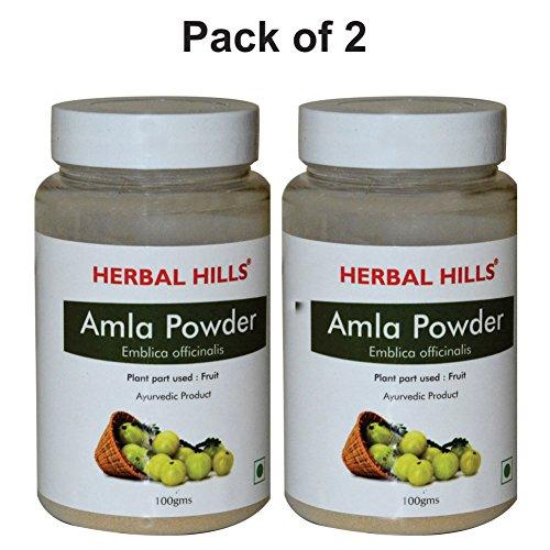 Herbal Hills Amla Powder - 100g Each (Pack of 2) Bottle